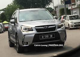 subaru suv 2016 spyshots 2016 subaru forester facelift in malaysia image 473461