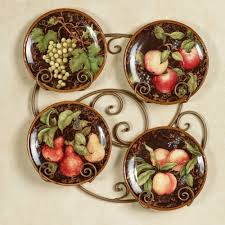 Wall Decor For Kitchen by Grape Trends Also Decorative Plates For Kitchen Wall Images