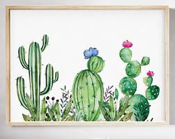 art deco cactus ring holder images Cactus watercolor etsy jpg