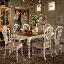 hillsdale wilshire 7 piece rectangle dining table set westrich
