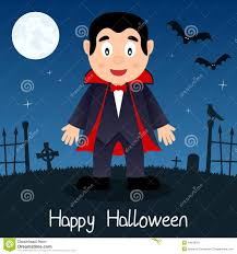 halloween scene clipart dracula happy halloween card stock vector image 44645351