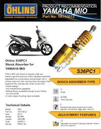 ohlins s36 pc1 shock absorber for yamaha mio ya110012