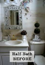 half bath before and after updating a half bath and laundry