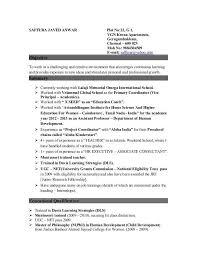 Principal Resume Template Post College Resume Eliolera Com
