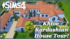 the sims 4 khloe kardashian mansion house tour youtube