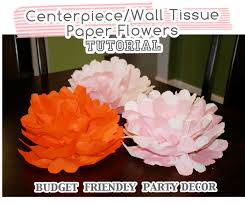 paper flower centerpieces centerpiece wall tissue paper flowers tutorial at home with natalie
