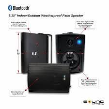 amazon com bluetooth 5 25 indoor outdoor weatherproof patio