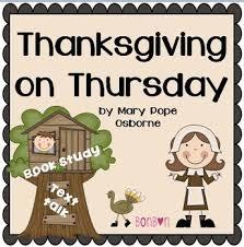 thanksgiving on thursday mth common book study by bonbon tpt