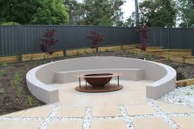 Firepit Area Sunken Circular Seating Area With Pit Janna Schreier Garden