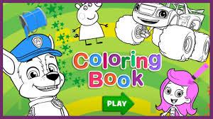 nick jr coloring book paw patrol dora and friends wallykazam