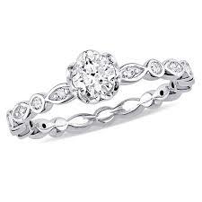 circle engagement ring 14k white gold 495ctw diamond engagement ring 8487235 hsn