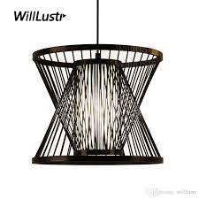 Zen Ceiling Light Willlustr Bamboo Pendant L Wood Suspension Light Post Modern