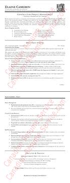 construction resume exles of a construction manager resume sle