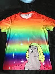 Internet Rainbow Meme - t shirt thunder amazing stars funny meme 9gag internet
