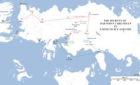 Game Of Thrones World Map by Mapping The Journey Of Daenerys Targaryen Atlas Of Ice And Fire