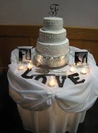 wedding cake table ideas so doing this the parents pictures tea lights want a word