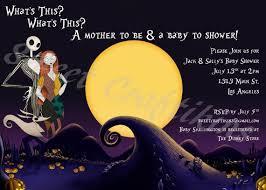 Christmas Baby Shower Invitations - baby shower invitation templates nightmare before christmas baby