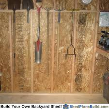 how to hang tools in shed storage shed plans