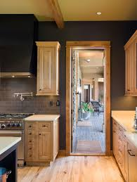 Kitchen With Maple Cabinets by Charcoal Walls With Natural Maple Cabinets Kitchen Home