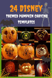 24 disney themed halloween pumpkin carving templates