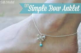 How To Make Jewelry Beads At Home - anklet with bow diy jewelry crafts unleashed