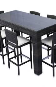 high table patio set pubtyle patio furniture bar height outdoor dining table highet