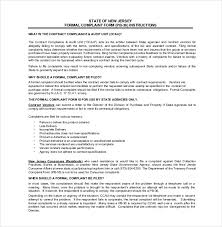 Formal Complaint Letter Against An Employee formal agreement template employment agency agreement template