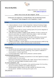 Sample Profiles For Resumes by Example Template Of An Experienced Chartered Accountant Resume