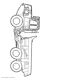 coloring page of a dump truck
