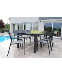 chaises salon de jardin salon de jardin 1 table 200 cm 6 chaises et 2 fauteuils de créador
