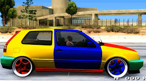 volkswagen harlequin vw golf mk3 harlequin design gta mod youtube