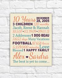 10th anniversary gift ideas for him anniversary gift for 10 years 20 years gifts for him paper
