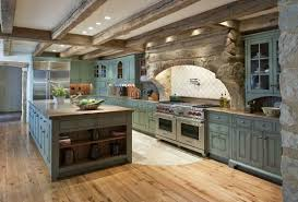 farm style kitchen cabinets for sale the rustic wooden beams the colonial blue cabinets