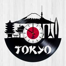 tokyo tower 東京 handmade vinyl record wall clock vinyl clocks