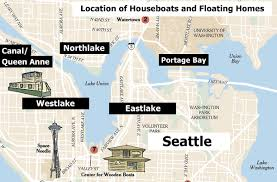 seattle map location seattle floating homes and houseboats guide part 5 locations