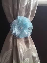 diy flower curtain tie backs oh so amelia