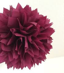 tissue paper decorations sangria tissue paper pompom burgundy wedding decorations wine