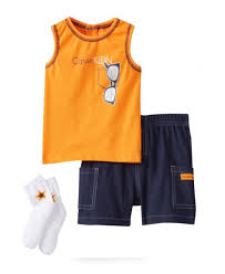 calvin klein baby boy 3 set with shorts tank top and socks