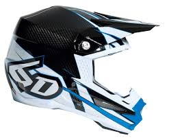 blue motocross helmet 6d atr 1 carbon electric helmet revzilla