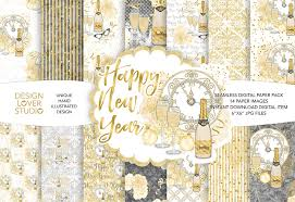 wedding scrapbook supplies watercolor happy new year digital papers master bundles