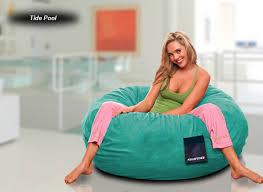 suede gamer bean bag chair game furniture sumo lounge