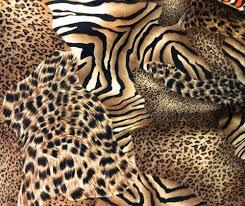 animal print charmeuse satin fabric 60