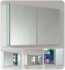 Two Door Medicine Cabinet Faucet Fmc8010 In Mirror By Fresca
