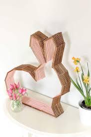 diy modern bunny wall decor perfect for easter or a nursery