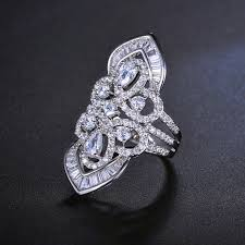 crown ring multistone ring art deco jewelry vintage style ring