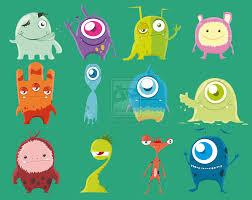 cute animated monster wallpaper wallpapersafari