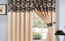 Black And White Damask Curtain Black And Cream Striped Patterned Window Curtain Panel Combined