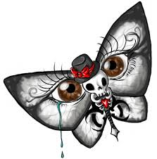 butterfly skull illusion design tattoomagz