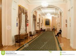 interior of rose foyer at moscow conservatory editorial image