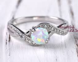 Opal Wedding Ring Sets by Opal Engagement Ring Etsy